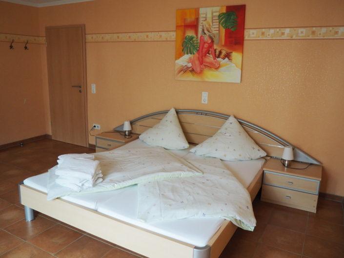 Wohnung Gredi Schlafzimmer mit Doppelbett