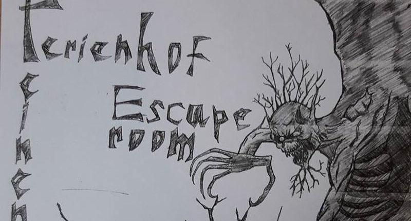 Zeichnung für den Escape Room des Ferienhof Feinen