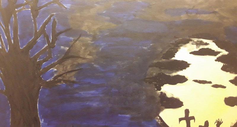 gemaltes Bild vom Mondschein für den Escape Room