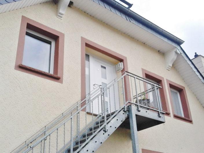 Außentreppe mit Wohnungseingang Wohnung 8