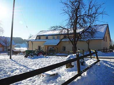 Ferienwohnung im Schnee
