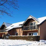 Aussenansicht Haus am Feinen Ausblick im Schnee