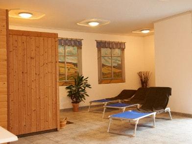 Ruhezone im Saunabereich
