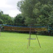 Federballnetz im Park sowie Grillmöglichkeit