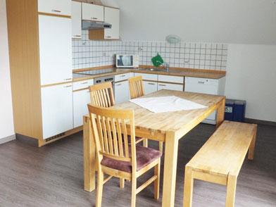 Essbereicht und Küche von Wohnung 7