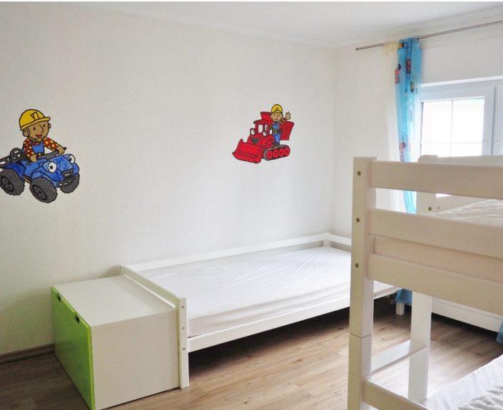 Einzelbett im Kinderzimmer Ferienhaus Wiesengrund