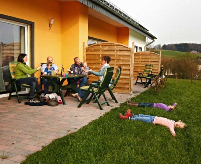 Terrassen der Wohnunungen Hedwig und Hubert