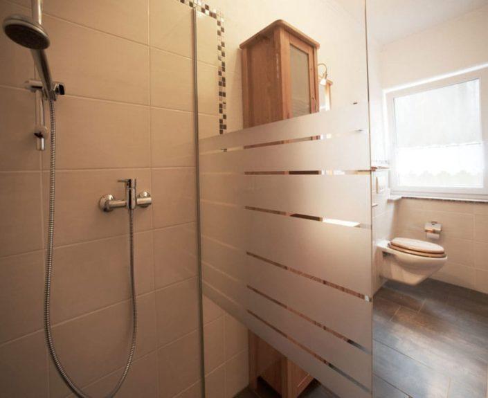 Badezimmer in der Ferienwohnung Hedwig und Hubert