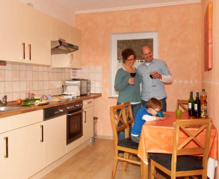 Küche der Ferienwohnungen Hedwig und Hubert