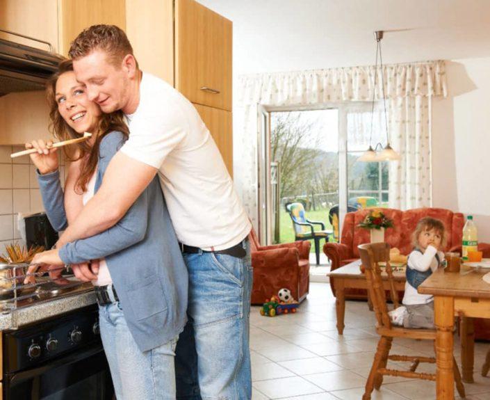Küchenzeile der Ferienwohnungen 9-12