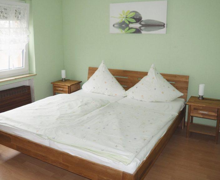 Schlafzimemr mit Doppelbett Haus Wiesengrund