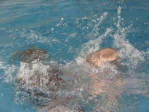 Schwimmen und Tauchen im Hallenbad