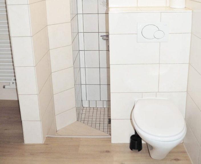 WC und Duschbereich der Ferienwohnung Valentin 1