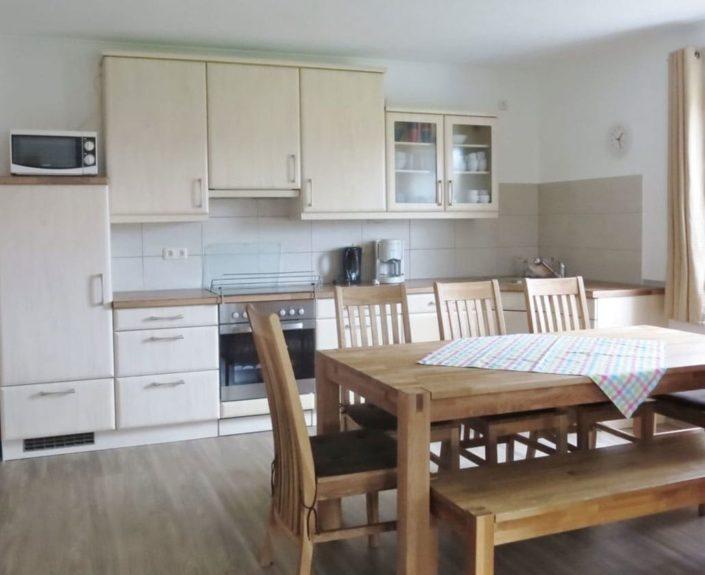 Essbereich und Küche im Ferienhaus 1