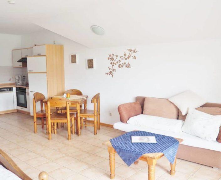 Wohnbereich des Appartement 14