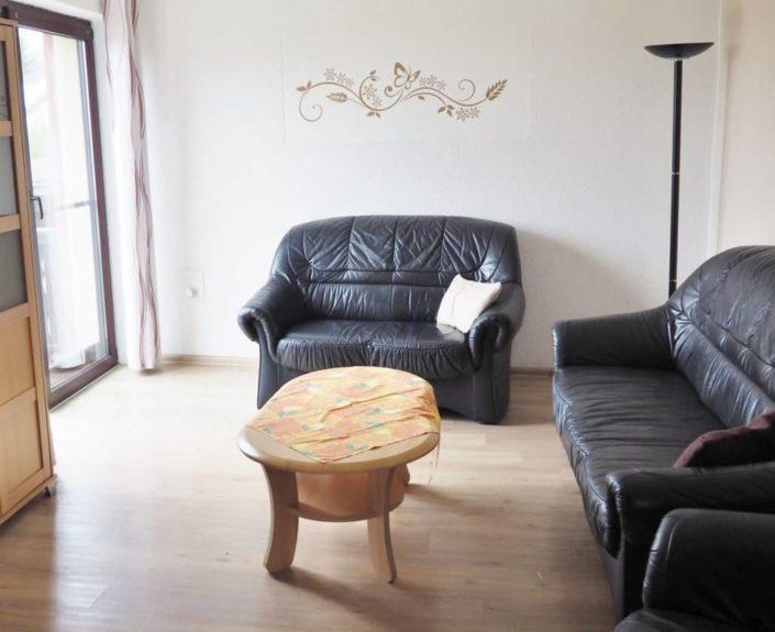 Wohngarnitur im Wohnzimmer der Ferienwohnung Valentin 2